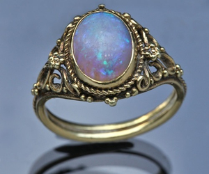 ring, opal, and vintage image