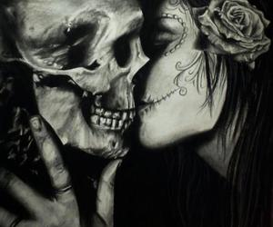 kiss, skull, and art image