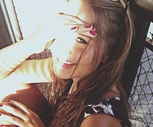 girl, beautiful, and smile image