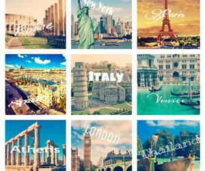 italy, paris, and Athens image