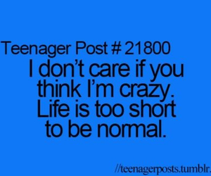 crazy, life, and quote image