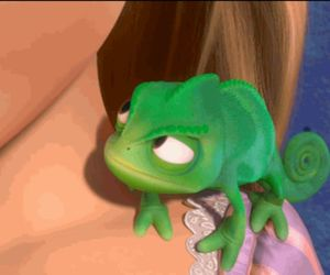 green, rapunzel, and pascal image
