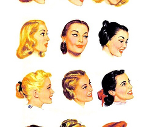 hair and vintage image