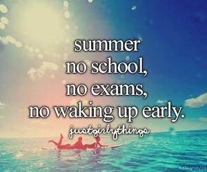 summer, no school, and beach image