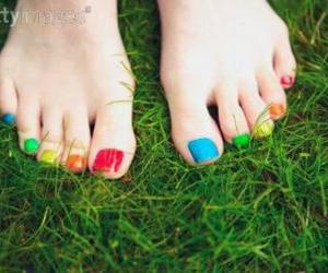 color, feet, and girl image