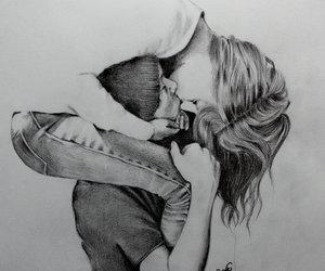 boy, drawings, and girl image