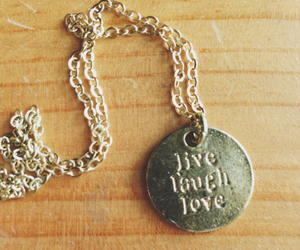 boho, laugh, and necklace image