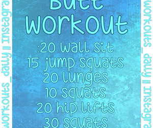 butt and workout image