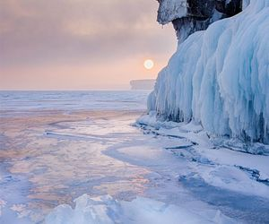 ice, landscapes, and winter image