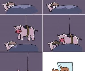 cow, funny, and hair image