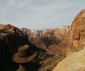 canyon, wilderness, and cowboy image