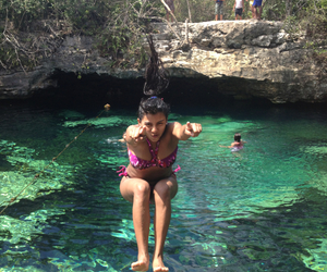 azul, cenote, and funny image