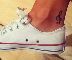 tattoo, music, and converse image