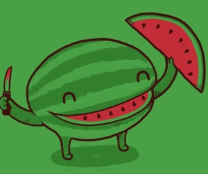 watermelon and happy image