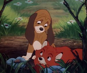 disney, the fox and the hound, and fox image