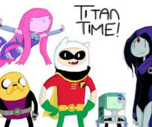 teen titans and adventure time image