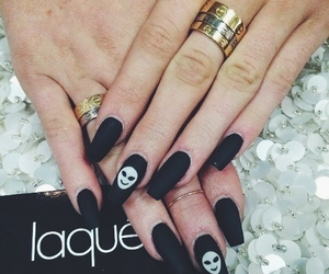 nails, black, and alien image