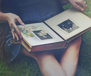 album, girl, and photo image
