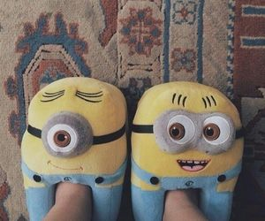 minions, cute, and slippers image