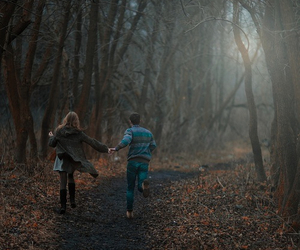 couple, forest, and cute image