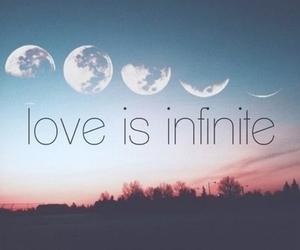 love, moon, and infinite image