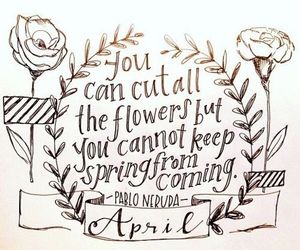 april, quote, and spring image