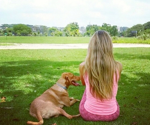 blonde, happy, and nature image