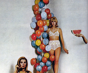 vintage, balloons, and 60's image