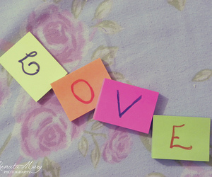 flowers, love, and post it image
