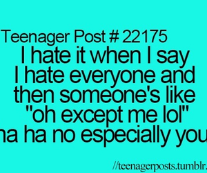 hate, i hate everyone, and teenager post image