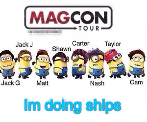 minions and magcon image