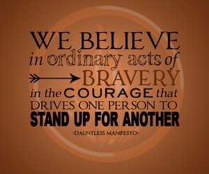 divergent, dauntless, and quote image