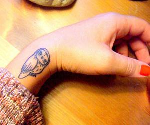 tattoo, owl, and hand image