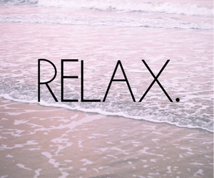 relax, beach, and sea image