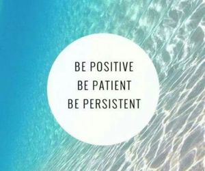 be, patient, and optimism image
