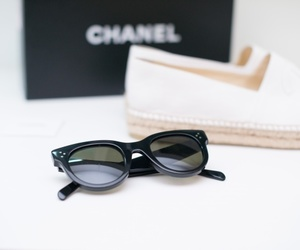 chanel, sunglasses, and shoes image