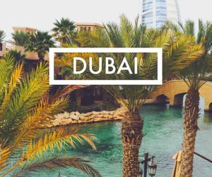 Dubai, summer, and travel image