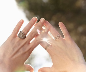 diamonds, hands, and nails image