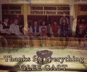 glee, glee cast, and thanks image