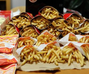 food, French Fries, and McDonalds image