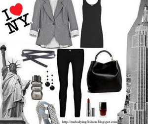 empire state building, ny, and fashion image