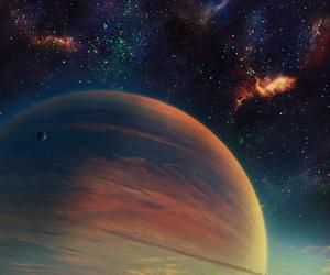 fantasy, galaxy, and land image