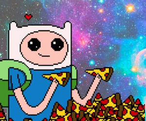 pizza, finn, and galaxy image