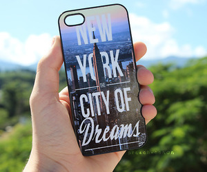 case, iphone, and new york image