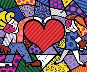 painting, romero britto, and art image