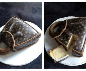 cake, Louis Vuitton, and bag image