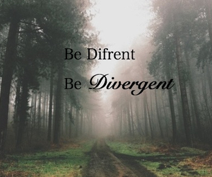 divergent and difrent image