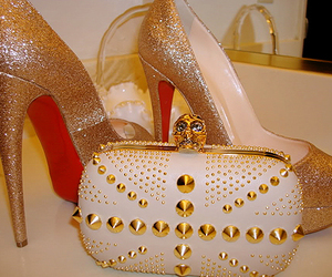 shoes, style, and clutch image