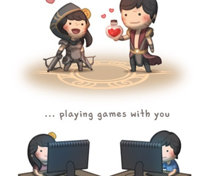 love, game, and playing image