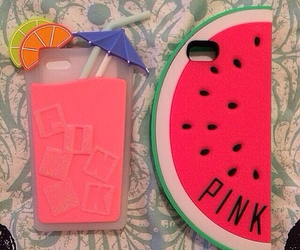 pink, summer, and watermelon image